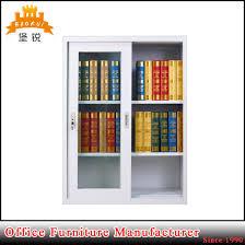 office furniture half height sliding glass door small steel file cabinet