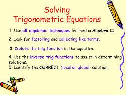 solving trigonometric equations 2 1