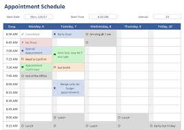 microsoft excel scheduling template microsoft excel scheduling template appointment schedule good