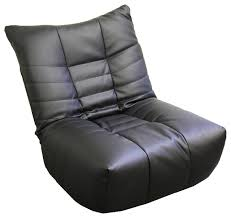13 5 tall vinyl and leather floor game chair espresso finish