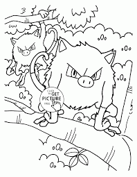Pokemon Mankey Coloring Pages For Kids