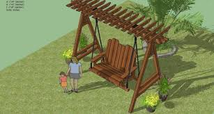swing plans out door furniture woodworking