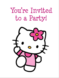 First Birthday Invitations Free Printable Hello Kitty Free Printable Birthday Party Invitation