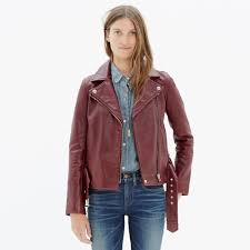 lyst madewell ultimate leather motorcycle jacket in red