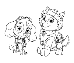 Paw Patrol Skye Coloring Page Pages Zuma New Rocky And Free