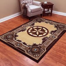imagination western area rugs rug donnieann traditions star chocolate polypropylene