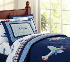 Pottery barn kids plane bedding