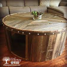 borrego round reclaimed wood coffee