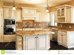 New Modern Kitchen Large New Modern White Kitchen Royalty Free Stock Photo Image