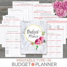 Budget Planner Printable Monthly Household Budget Form Financial Planning Family Money Tracker Debt Paydown Editable Instant Download