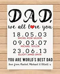 personalised presents gifts for father daddy step dad him from sons daughters birthday