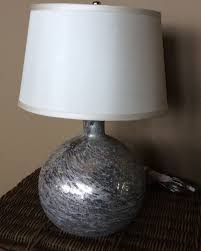 new pottery barn antique mercury glass round table lamp crystal circle table lamp