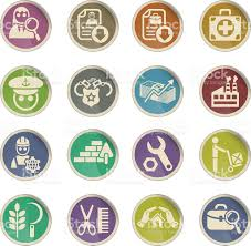 job search icon set stock vector art istock authority business finance and industry computer icon construction industry engineer job search