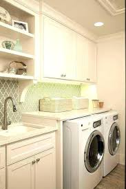 diy counter over washer and dryer under counter washer dryer in n coolest basement laundry room diy counter over washer and dryer