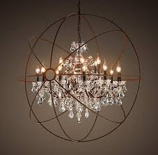 willpower restoration hardware ceiling lights foucault s orb crystal chandelier large