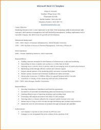 Microsoft Cv Template Cv Templates Microsoft Word 6 Cv Format Microsoft Word Lobo