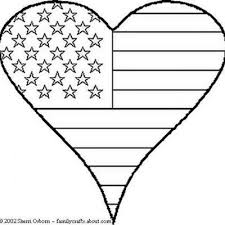 Small Picture Patriotic Heart Coloring Sheet Patriotic Coloring Pages Tip Junkie