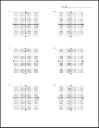 Single Quadrant Graphing Worksheets Coordinate Plane Graph Paper