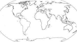 Continent Map Outline Montessorisoul