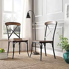 modern rustic dining chairs. Simple Dining Nelson Industrial Modern Rustic Cross Back Dining Chair Set Of 2 By  Tribecca Home Inside Chairs E