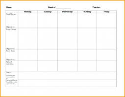 035 Free Lesson Plan Template Word Doc Weekly Blank Forms