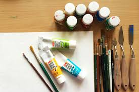 to start painting you need few basic colors like titanium blue black ultramarine blue crimson red yellow ochre with the combination of these hues