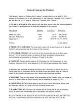 Business Contract Template Business Sales Agreement Sample