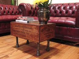 wine crate furniture. Vintage-Style Wine Crate Coffee Table Furniture