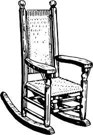 rocking chair clipart. Rocking Chair 2 Clipart E