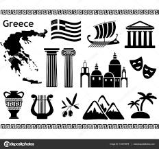 Traditional Symbols Traditional Symbols Of Greece Stock Vector 1nana1 143575979