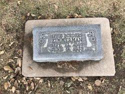 Effie Borders Zimmerman (1866-1958) - Find A Grave Memorial
