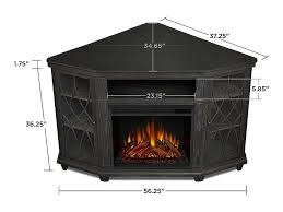 real flame lynette grey corner electric
