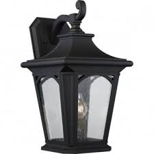 bedford large exterior wall lantern black seeded glass