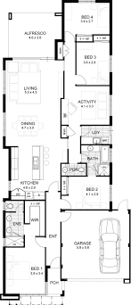 house plan one level plans for narrow lots homes with wrap around porch open floor
