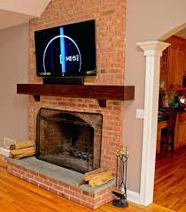 sensational ideas mounting tv on brick fireplace modern above wall