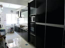 black glass kitchen cabinets