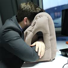 office nap pillow. Office Nap Pillow. Inflatable Travel Pillow Train Air Bus Face Neck Head Rest G