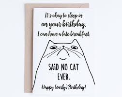 black and white printable birthday cards printable funny birthday cards black and white cat cards cat etsy
