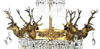 small antique chandelier small vintage chandelier vintage droplets 6 arm gold stag head chandelier with icicle