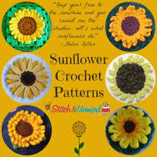 Crochet Sunflower Pattern Delectable Plan Ahead For Sunshine 48 Sunflower Crochet Patterns Stitch And