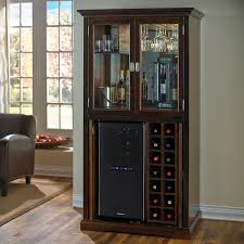 Cabinet With Wine Cooler Firenze Wine And Spirits Armoire Bar With 32 Bottle Touchscreen