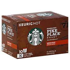 We've got a range of platforms and programs, supported by an expanded portfolio of brands, to give you all the options people want in a coffee moment. Starbucks Coffee K Cup Pods Medium Roast Pike Place Roast Box 10 0 44 Oz Tom Thumb