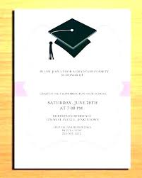 Graduation Templates Word Commencement Invitation Template