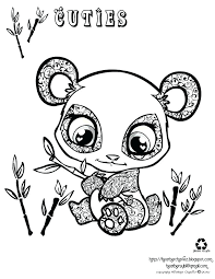 Lps Coloring Pages Cuties Littlest Pet Shop Coloring Page Coloring