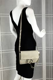 chloe faye grey. faye small shoulder bag in motty grey chloe