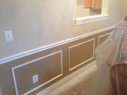 new chair rail and picture frame molding