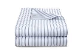 ticking stripe blue grey duvet cover
