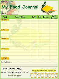 Diary Format Template This Printable Food Diary Template In Adobe Pdf Format Is