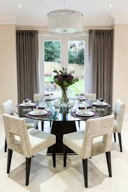 72 inch round dining table room transitional with chandelier cream chairs tables