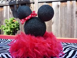 Pink And Black Minnie Mouse Decorations Honeycomb Events Design The House Of Minnie Mouse